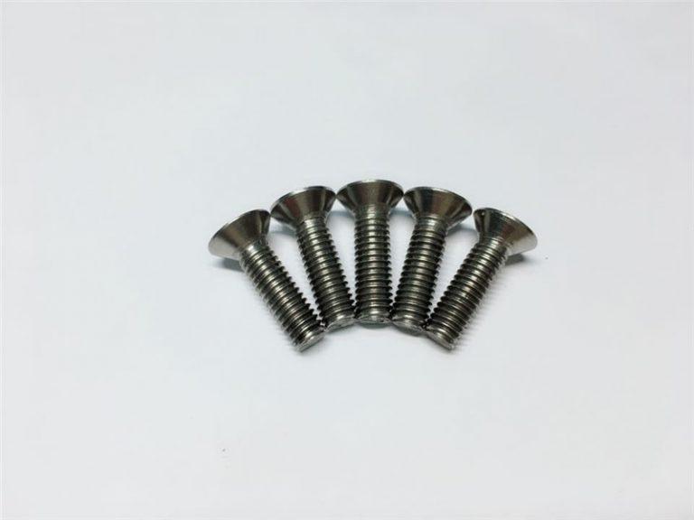M3, M6 titanium screw flat head socket head cap titanium flange screws alang sa operasyon sa spinal