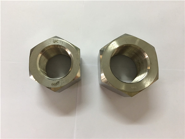 paghimo og nikel alloy a453 660 1.4980 hex nuts