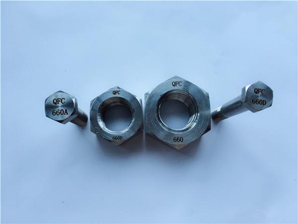 alloy 660 hex bolts ug nuts, mga fastener din1.4980