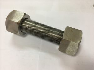 No.50-Incoloy 925 Stud bolt cw bug-at nga hex nut