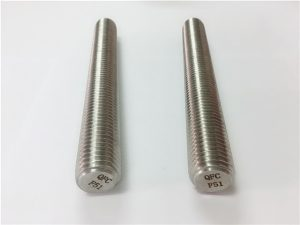 No.77 Duplex 2205 S32205 stainless steel fasteners DIN975 DIN976 sinulud nga mga sungkod nga F51