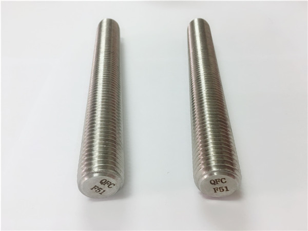 duplex2205 / s32205 stainless steel fasteners din975 / din976 sinulud nga mga rods f51