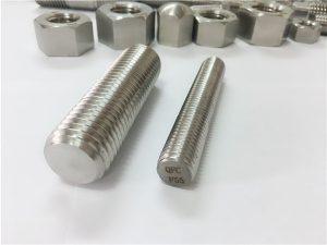 No.81-F55 Zeron100 stainless steel fasteners nga puno sa sinulid nga sungkod S32760