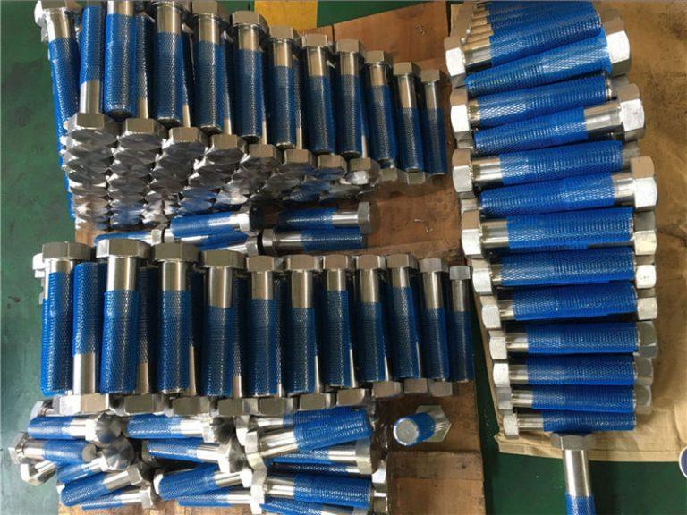 sus 304l en1.4306 ss fastener hex bolts iso4014 tunga nga hilo