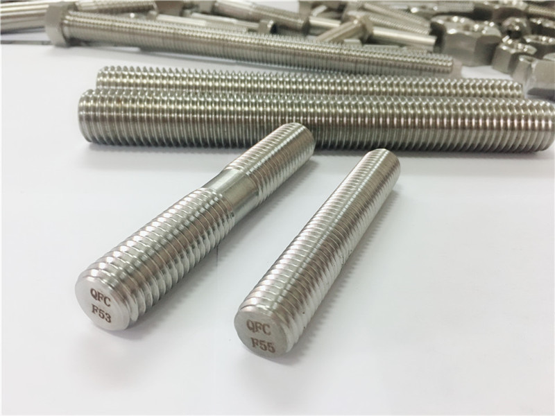 pasadya auto machined stainless steel fasteners double end threaded rod